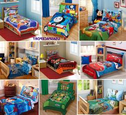 4pc Boys TODDLER BEDDING SET Comforter+Sheets Bed in a Bag C