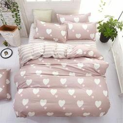 4pcs Bed in a Bag bedding set duvet Quilt Cover Double & Kin