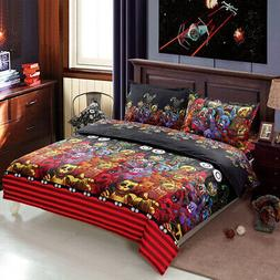 4pcs Cartoon Kids Bedding Set Duvet Cover + 2pcs Pillowcases