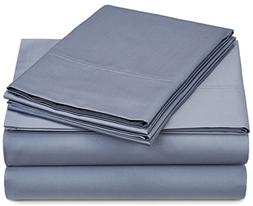Pinzon 500-Thread-Count Pima Cotton Sateen Sheet Set - Queen