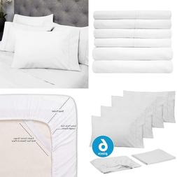 6  1500 Thread Count Deep Pocket Queen Bed Sheet Set With 4