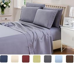 6 Piece Lux Decor Bed Sheets Set Queen Size, HOTEL LUXURY Br