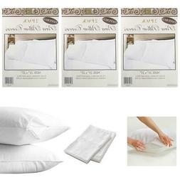 6 White Hotel Pillow Plastic Cover Case Waterproof Zipper Pr