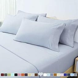 HOMEIDEAS 6 Piece Bed Sheets Set Extra Soft Brushed Microfib