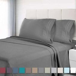 6 Piece Deep Pocket Bed Sheet Set 1800 Count Hotel Quality B