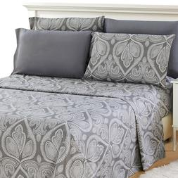 Deep Pocket 6 Piece Bed Sheet Set 1800 Series Egyptian Comfo