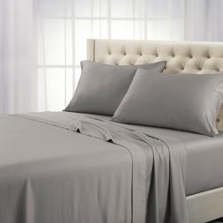 Luxury 100% Cotton Bed Sheets 600 Thread Count Soft Solid De