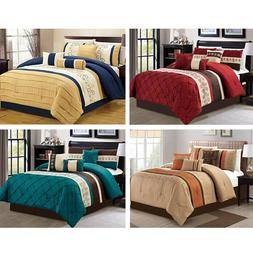 734cf935a5 DCP 7Pcs Bed in a Bag Comforter Sets- Queen King Cal. King S
