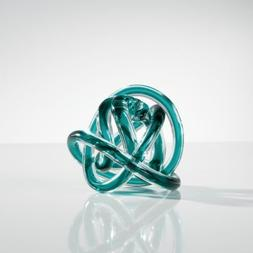 Torre & Tagus 901747A Orbit Glass Decor Ball, Small, Teal