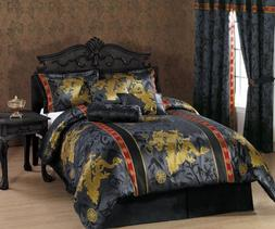 Chezmoi Collection 7-Piece Palace Dragon Jacquard Comforter