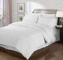Chezmoi Collection 8 Piece Pleated Hem Solid Bed-in-a-Bag Co