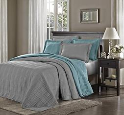 Chezmoi Collection Kingston 3-piece Oversized Bedspread Cove