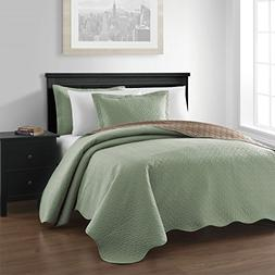 Chezmoi Collection Mesa 3-piece Oversized  Reversible Bedspr