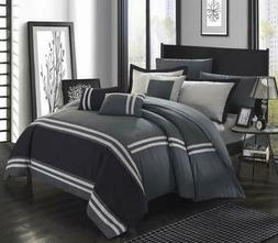 Chic Home Zarah 10 Piece Comforter Bedding with Sheet Set an
