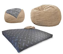 CordaRoy's Bean Bag Chair, Corduroy Convertible Chair Folds