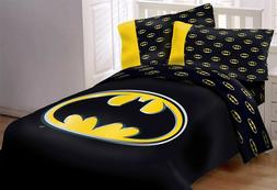 DC Batman Emblem 7 Piece Reversible Luxury Queen Size Comfor