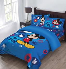 Disney Mickey Oh Boy! Gosh Licensed Twin Comforter Set Set w