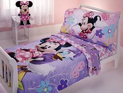 Disney Minnie 4 Piece Toddler Bedding Set