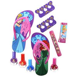 Townley Girl Spa Day Set, Includes 4 Nail Polish, Flip Flops