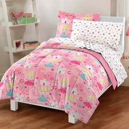 Dream Factory Pretty Princess Ultra Soft Microfiber Girls Co