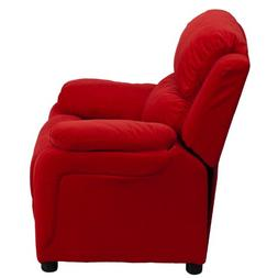 Flash Furniture Deluxe Padded Contemporary Red Microfiber Ki