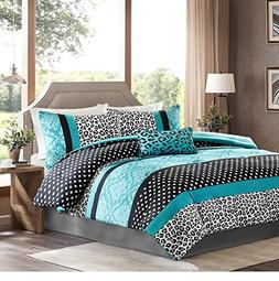 Girls Bedding Set Kids Teen Comforter Turquoise Black White