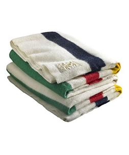 Hudson Bay 6 Point Blanket, Natural with Multi Stripes
