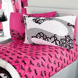 4pc Justice League Girl Full Bed Sheet Set Awesome Power Won
