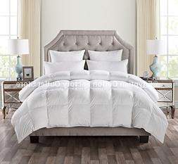 LUXURIOUS QUEEN Size White Goose Down Alternative Comforter