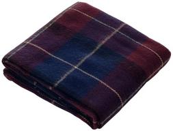 Lavish Home Throw Blanket, Cashmere-Like, Blue/Red