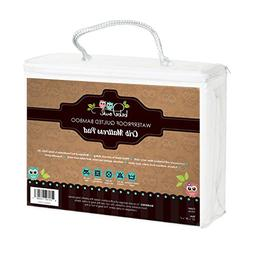 Luxuriously Soft Bamboo Crib Mattress Cover by Bebe Owl, Qui