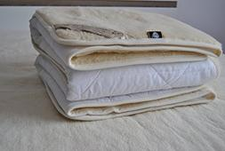 Luxury & Warm ! Reversible Mattress Topper / Pads , 100% Mer