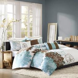 Madison Park Lola 6 Piece Printed Duvet Cover Set, King/Cal