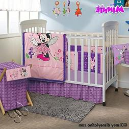 Minnie Mouse Disney Crib Bedding Set Sheets 5PC Comforter Bu