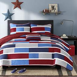 Mi-Zone Bradley Full/Queen Size Teen Boys Quilt Bedding Set