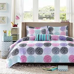 Mi-Zone Carly Comforter Set Full/Queen Size - Teal, Purple,