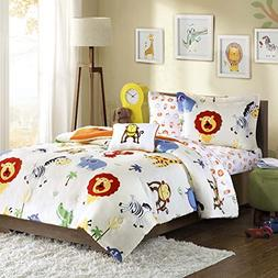 Mi-Zone Kids Safari Sam Full Kids Bedding Sets for Boys - Wh