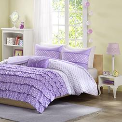 Mi-Zone Morgan Comforter Set Full/Queen Size - Purple, Polka