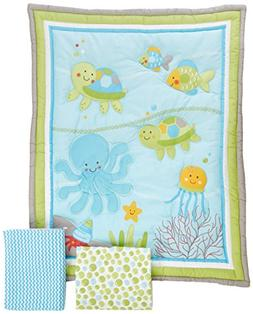 NoJo Little Bedding Ocean Dreams 3 Piece Crib Bedding Set