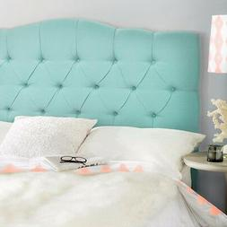 Queen full Upholstered Headboard bed frame Button Bedroom Fu