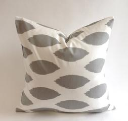 Set of 2 - Ikat Design Decorative Throw Pillows Covers -Medi
