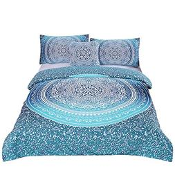 Sleepwish 4 Pcs Bohemian Luxury Boho Bedding Crystal Arrays