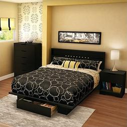 South Shore Trinity Full Queen 4 Piece Bedroom Set in Pure B