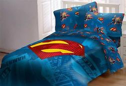 Superman Emblem 5 Piece Reversible Super Soft Luxury Full Si