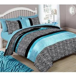 Your Zone Teal Animal Bedding Comforter Set - TWIN