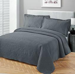 Twin/twin Extra Long Fancy Collection 2pc Luxury Bedspread C