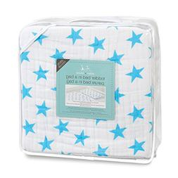 aden + anais Classic Toddler Bed in a Bag - Fluro Blue Kids