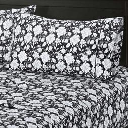 Agnes Floral Sheets 100% Cotton Printed Fitted + Flat Sheet