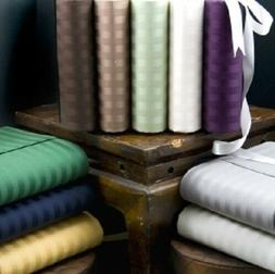 All Striped Colors & Sizes Bed Sheet Set 1000 Thread Count 1