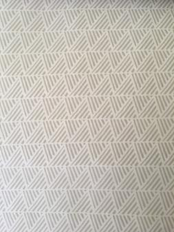 Amazon Basics Queen Size Bed Sheets White w/ Taupe Pattern